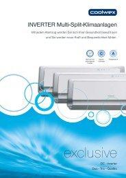INVERTER Multi-Split-Klimaanlagen - COOLWEX