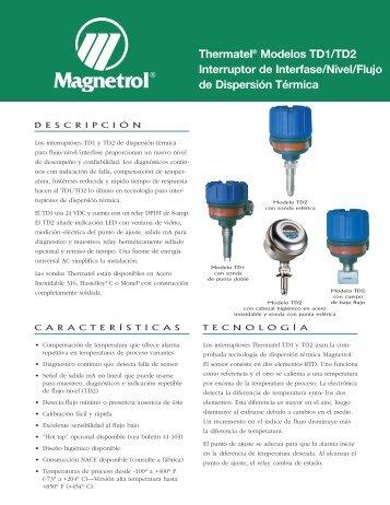 Interruptores De Flujo F10 Magnetrol International