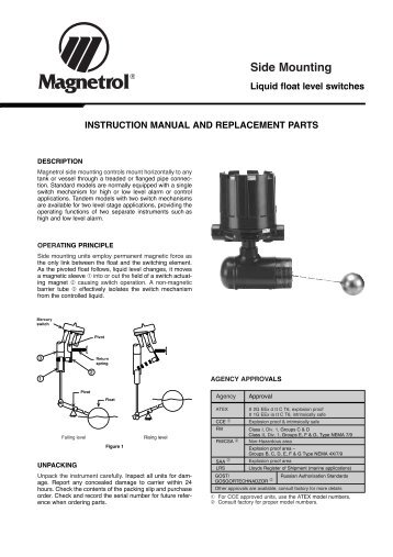 B73 float level switch be46 119 literature magnetrol international instruction manual magnetrol international sciox Image collections