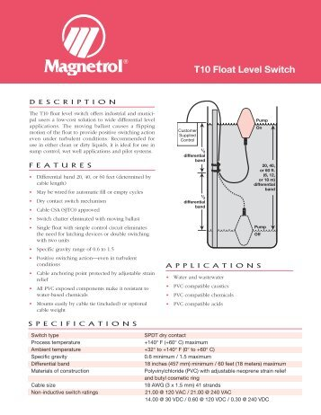 121 t10 float level switch magnetrol international 44 121 t10 float level switch magnetrol sciox Image collections