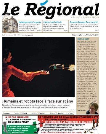 Humains et robots face à face sur scène