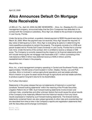 Mortgage Note - Rg Agency