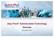 Stay Fresh® The Next Generation in Durable Antimicrobial Protection