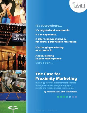 The Case for Proximity Marketing