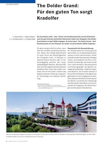 Pressetext - Gipsergeschäft Kradolfer GmbH