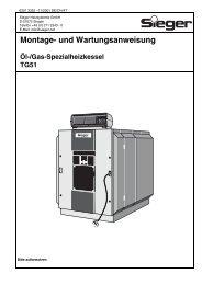 Montage- und Wartungsanweisung - Sieger Heizsysteme GmbH