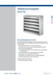 Wetterschutzgitter Serie NL - Trox