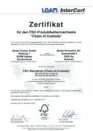 Zertifikat - Model Holding AG