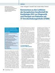 STEMI - Leitlinien - Deutsche Gesellschaft für Kardiologie