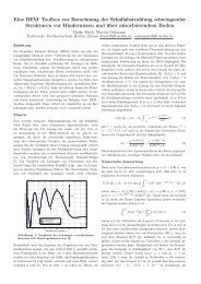 Eine BEM–Toolbox zur Berechnung der Schallabstrahlung ...