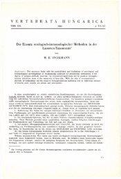 Vertebrata Hungarica 21. (Budapest, 1982)