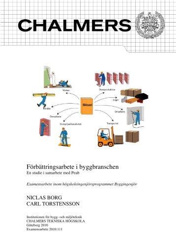 Förbättringsarbete i byggbranschen - Chalmers tekniska högskola