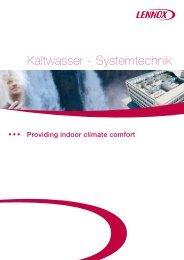 Kaltwasser - Systemtechnik - Lennox