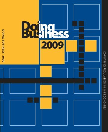 Doing Business 2009 -- Comparing Regulation in 181 Economies