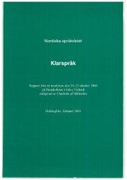 Klarspråk - Nordisk Sprogkoordination