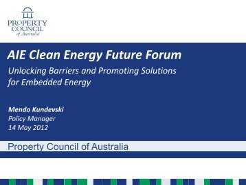 Presentation - Australian Institute of Energy