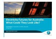 Electricity Futures for Australia - Australian Institute of Energy