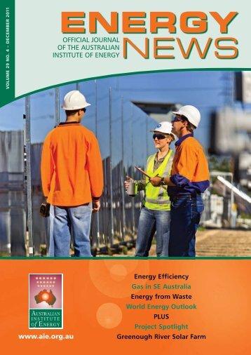 Volume 29 No 4 - Dec 2011 - Australian Institute of Energy