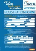 2010 AAHE hydrogen workshop - Australian Institute of Energy - Page 4