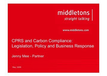 CPRS and Carbon Compliance - Australian Institute of Energy