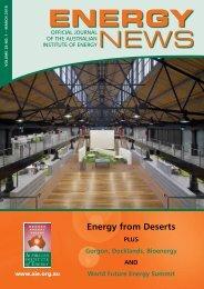 Energy from Deserts - Australian Institute of Energy