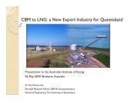 CBM to LNG - Australian Institute of Energy