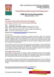AGM & Evening Presentation - Australian Institute of Energy