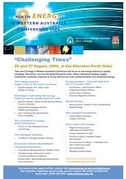 """""""Challenging Times"""" - Australian Institute of Energy"""