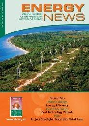 Volume 29 No 1 - Apr 2011 - Australian Institute of Energy