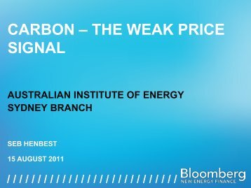 CARBON – THE WEAK PRICE SIGNAL - Australian Institute of Energy