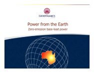 Power from the Earth - Australian Institute of Energy