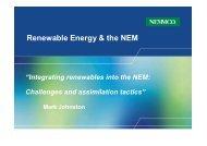 Integrating renewables into the NEM - Australian Institute of Energy