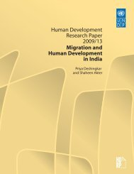 Migration and Human Development in India