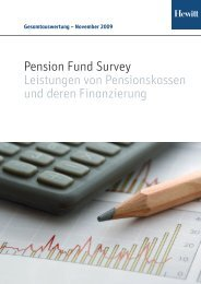 Pension Fund Survey Report 2009 - Aon