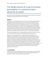 The design process as a way to increase participation in a research ...