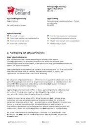 Kvalificering och obligatoriska krav (pdf) - Sveriges Radio