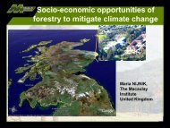 Socio-economic opportunities of forestry to mitigate climate change