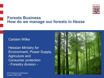 Forests and Forestry in Hesse/Germany