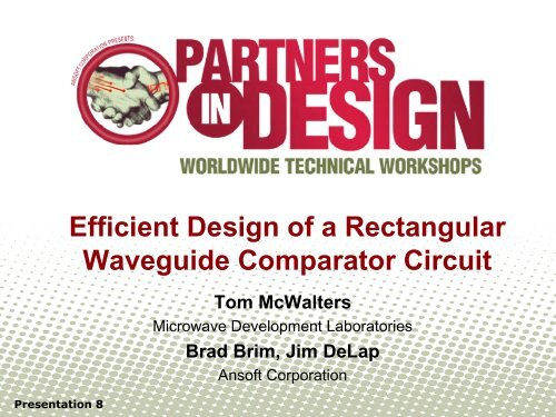 Efficient Design of a Rectangular Waveguide Comparator Circuit