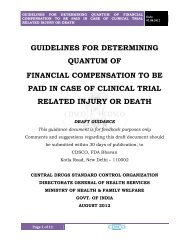 guidelines for determining quantum of financial compensation