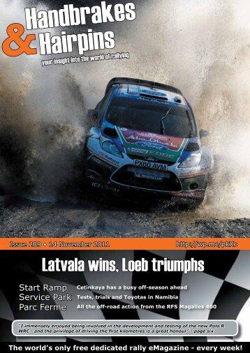 Latvala wins, Loeb triumphs - HANDBRAKES & HAIRPINS