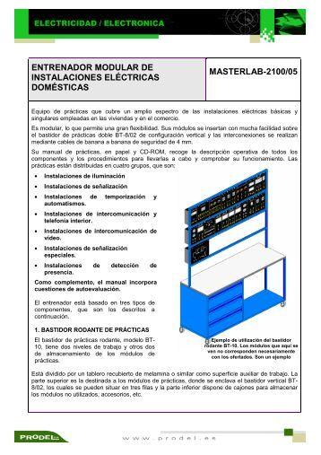 entrenador modular de instalaciones eléctricas domésticas ...