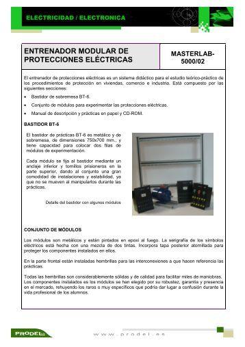 entrenador modular de protecciones eléctricas masterlab