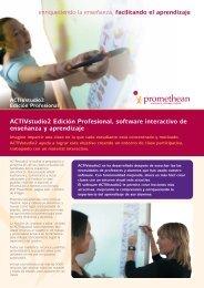 ACTIVstudio2 Edición Profesional, software interactivo de ... - Prodel
