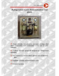 Refrigeration Cycle Demonstration Unit R633