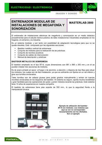 entrenador modular de instalaciones de megafonía y sonorización