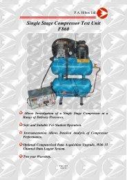 Single Stage Compressor Test Unit F860