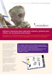 Software interactivo para educación infantil y primaria para ... - Prodel