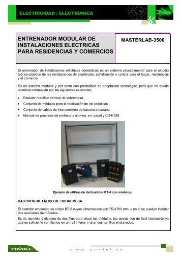 entrenador modular de instalaciones electricas para residencias y ...