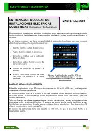 entrenador modular de instalaciones electricas domesticas